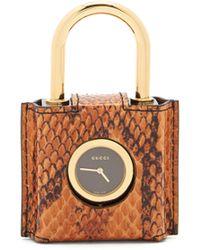0984cb20f75 Gucci - Constance Engraved Plexiglas Padlock Watch - Lyst