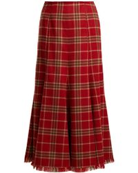 Gabriela Hearst - Amy Cashmere And Silk Blend Flannel Midi Skirt - Lyst