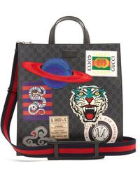 Gucci - - Gg Supreme Badge Appliqué Tote Bag - Mens - Black Multi - Lyst