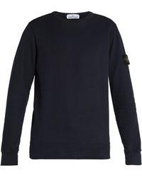 Stone Island - Logo Patch Cotton Jersey Sweatshirt - Lyst
