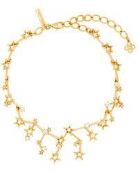 Oscar de la Renta - Constellation Crystal-embellished Necklace - Lyst