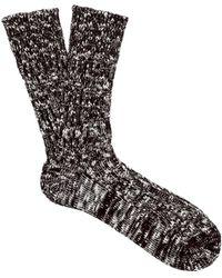 Undercover - Melange-knit Cotton-blend Socks - Lyst