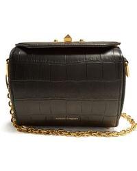Alexander McQueen - Box Bag 19 Crocodile-effect Leather Shoulder Bag - Lyst