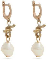 Marni - Pearl Drop Earrings - Lyst