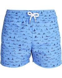 Frescobol Carioca - Sports Surfistas Print Swim Shorts - Lyst