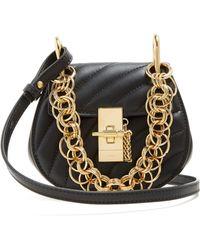 Chloé - Drew Bijou Nano Leather Cross Body Bag - Lyst