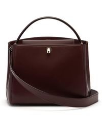 Valextra - Brera Medium Leather Bag - Lyst