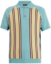 Prada | Striped Wool-knit Polo Shirt | Lyst