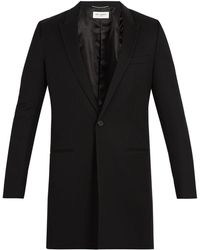Saint Laurent - Single-breasted Wool Coat - Lyst