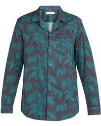Desmond & Dempsey - Byron Print Cotton Pyjama Top - Lyst