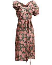 Vivienne Westwood - Gabriella Tie Waist Floral Jacquard Dress - Lyst