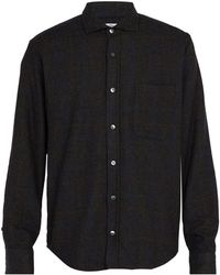 Inis Meáin - Checked Wool Blend Bouclé Shirt - Lyst