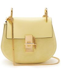 Chloé - Drew Mini Leather And Suede Cross-body Bag - Lyst