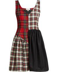 Isa Arfen - Check Mix Mini Skirt - Lyst