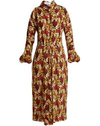 Prada - Marocaine Floral Print Silk Dress - Lyst