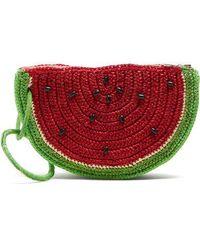 Sensi Studio - Watermelon Toquilla-straw Clutch - Lyst