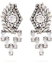 Sonia Rykiel - - Crystal Embellished Drop Earrings - Womens - Silver - Lyst