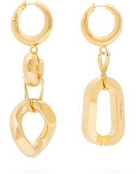 Balenciaga - Mismatched Chain Link Drop Earrings - Lyst