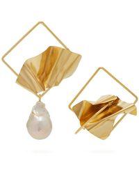 ROKSANDA - Mismatched Sculptural Baroque Pearl Earrings - Lyst