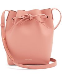 Mansur Gavriel - Pink-lined Mini Leather Bucket Bag - Lyst