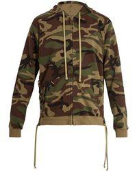 Faith Connexion | Camouflage-print Hooded Cotton Sweatshirt | Lyst