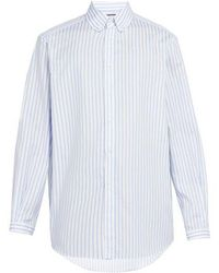 Gucci - Striped Cotton Button-down Shirt - Lyst