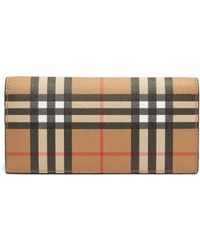 Burberry - Cavendish Vintage Check Continental Leather Wallet - Lyst