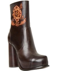 Leon Max - Hive : Block-heel Leather Boots - Lyst