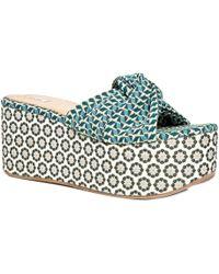 Leon Max - Divert : Jacquard Platform Slip-on Sandals - Lyst