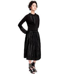 Leon Max - Fully Fashioned Knit Cropped Cardigan - Lyst