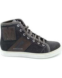 Marc Jacobs Brown Leather Hi Top Trainers