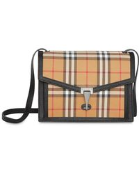 c5ad7e5271b0 Lyst - Burberry Tan Small Heston Bucket Bag in Brown