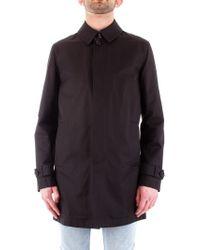 Corneliani - Black Polyester Trench Coat - Lyst