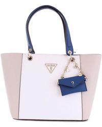 Guess White Polyurethane Handbag