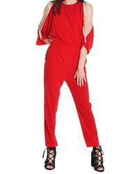 Suoli - Red Viscose Jumpsuit - Lyst
