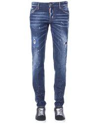 DSquared² - Blue Cotton Jeans - Lyst