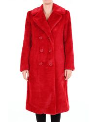 Alice + Olivia - Red Other Materials Coat - Lyst