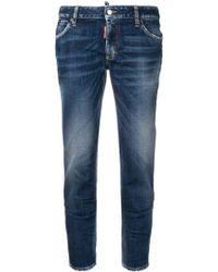 DSquared² Blue Cotton Jeans