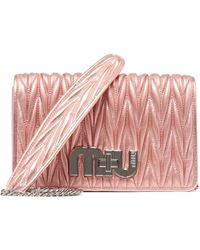 Miu Miu Pink Leather Shoulder Bag