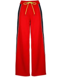 Iceberg - Red Polyester Trousers - Lyst