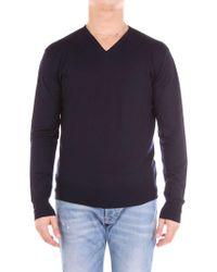 Cruciani - Blue Wool Sweater - Lyst
