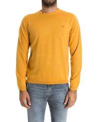 Sun 68 - Yellow Cotton Sweater - Lyst