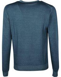 Etro Blue Wool Jumper
