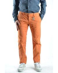 Siviglia - Orange Cotton Trousers - Lyst