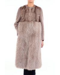Blancha Gray Wool Coat