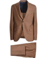 Eleventy - Brown Linen Suit - Lyst