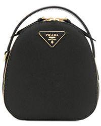 Prada - Black Leather Backpack - Lyst