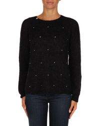 Sun 68 - Black Wool Sweater - Lyst