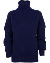 Victoria Beckham Blue Wool Sweater