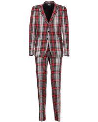 Dries Van Noten - Red Cotton Suit - Lyst